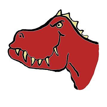 Dino red, T-Rex by Tanastish
