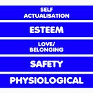 Psychological Hierarchy of needs by stuwdamdorp