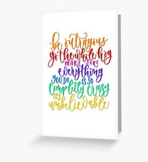 Roald Dahl Quote from Matilda  Greeting Card
