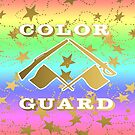 Color Guard Rainbow and Gold Stars Design by PurposelyDesign