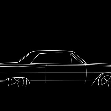 1964 Chevy Chevelle - profile stencil, white by mal-photography
