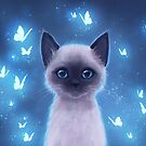 Siamese kitten by ARiAillustr