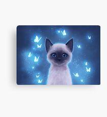 Siamese kitten Canvas Print