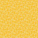 Yellow Retro Geometric Pattern by itsjensworld