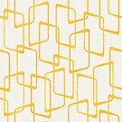 Reverse Yellow Retro Geometric Pattern by itsjensworld