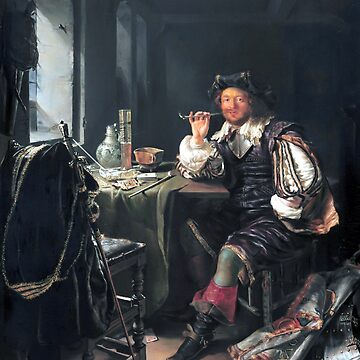 Frans van Mieris the Elder A Soldier Smoking a Pipe by pdgraphics