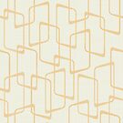 Reverse Soft Gold Retro Geometric Shapes by itsjensworld