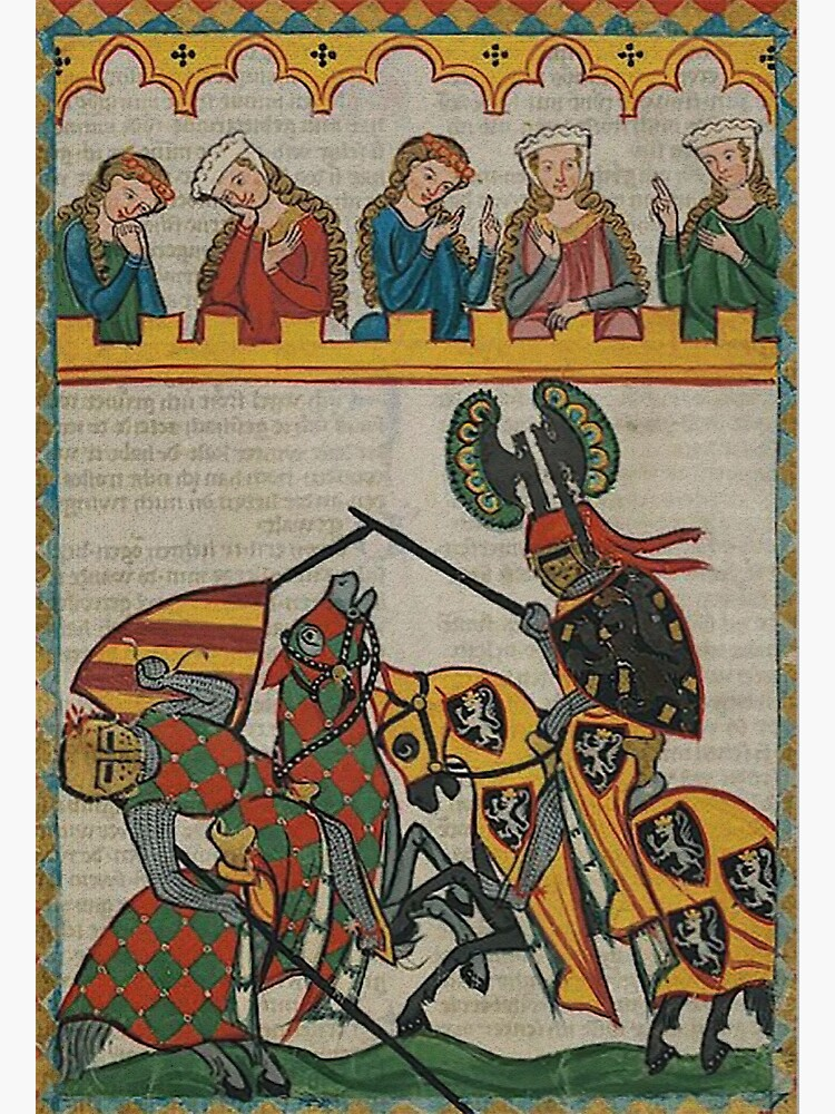 Medieval Tournament..Meister der Manessischen Liederhandschrift by edsimoneit