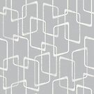 Silver Gray Abstract Geometric Retro Pattern by itsjensworld