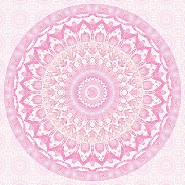 Frosted Pink Mandala by kellydietrich