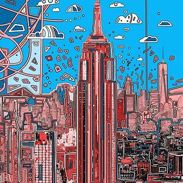 new york skyline  by BekimART
