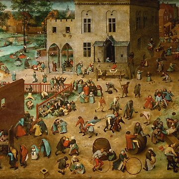 Children's Games - Pieter Bruegel the Elder - 1559 by billythekidtees