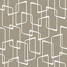 Retro Medium Warm Gray Geometric Shapes  by itsjensworld