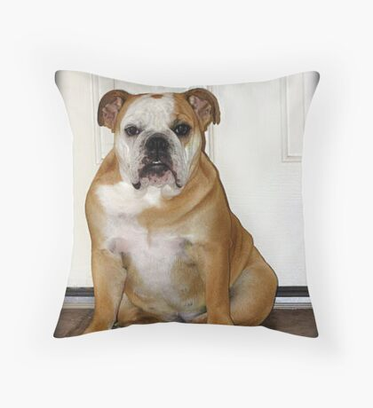 Waiting.....to take care of business.   Throw Pillow