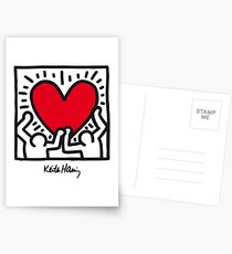 Keith Haring Heart Postcards