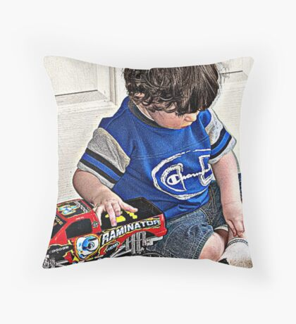 A Boy and his Truck!   Throw Pillow