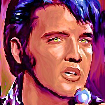 Elvis Presley Portrait  by NoraMohammed