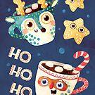 Santa Claus and Reindeer mugs by monikasuska