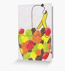 Fruit or Raining Fruit Greeting Card