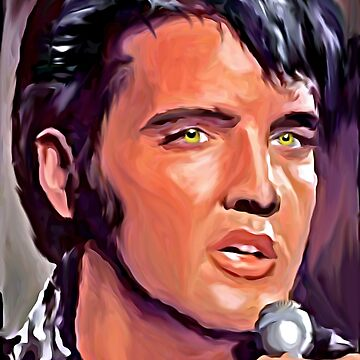 Elvis oil painting portrait  by NoraMohammed