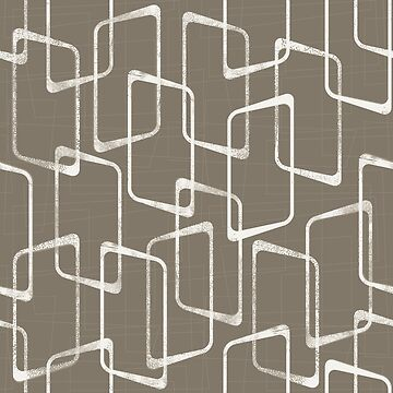 Dark Warm Gray Retro Geometric Shapes Pattern by itsjensworld
