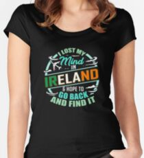 Irish Flag | I Lost My Mind in Ireland Women's Fitted Scoop T-Shirt