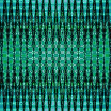 Turquoise Mint Green Obelisk Abstract Decor by redwindy