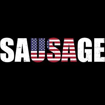 Funny USA Sausage  by Sleazoid