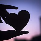 Love heart shape in hands photograph romantic valentines day design by edwardolive