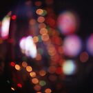 Red purple abstract photo of bokeh lights square Hasselblad 6x6 medium format film analogue photograph by edwardolive