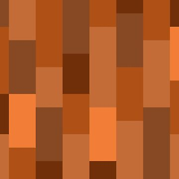 Abstract block bars illustration shades of orange by Russell102