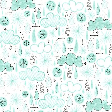 misty raindrop and cloud pattern by swoldham