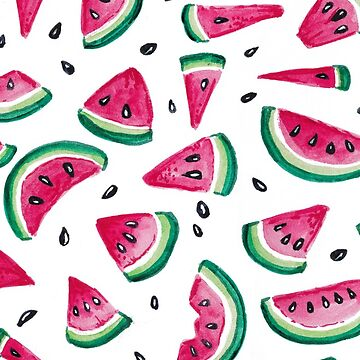 Summer Watermelon Slices and Seeds Pattern by LisaMarieArt