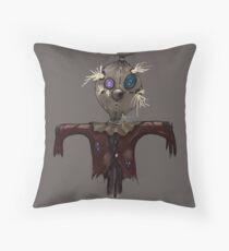 Scruffy Scarecrow Throw Pillow