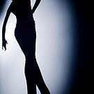 Female ballroom latin salsa dancer surrealist silhouette dance photo by edwardolive