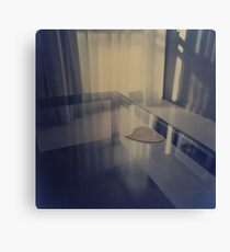 Love heart on table - Hasselblad 500cm hand made darkroom color print Canvas Print