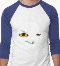 Snowy Owl Circle Men's Baseball ¾ T-Shirt