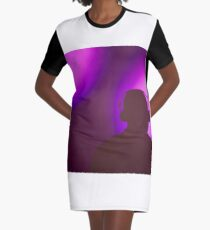 Rap hiphop dance music deejay dj in disco nightclub silhouette Graphic T-Shirt Dress