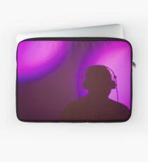 Rap hiphop dance music deejay dj in disco nightclub silhouette Laptop Sleeve