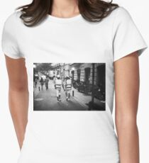 Gay lgbt sailors Chueca Spain analog 35mm film street photo Women's Fitted T-Shirt
