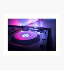 House dance music dj deejay turntable mixing desk nightclub party Ibiza Art Print
