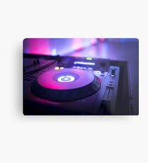 House dance music dj deejay turntable mixing desk nightclub party Ibiza Metal Print