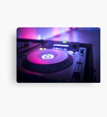 House dance music dj deejay turntable mixing desk nightclub party Ibiza Canvas Print