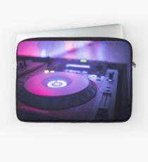 House dance music dj deejay turntable mixing desk nightclub party Ibiza Laptop Sleeve