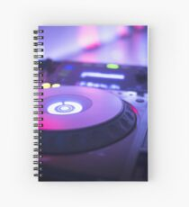 House dance music dj deejay turntable mixing desk nightclub party Ibiza Spiral Notebook
