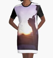 Young man smoking cigarette medium format Hasselblad film photo  Graphic T-Shirt Dress