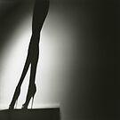 Female nude silhouette medium format Hasselblad silver gelatin by edwardolive