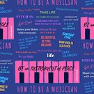 HOW TO BE A MUSICIAN (BLUE) by Robin Hackett