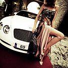 Sensual young lady 69 Sixty Nine Bentley sports car Marbella by edwardolive