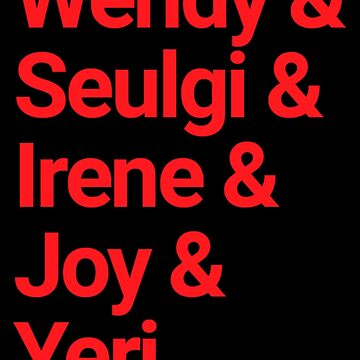Kpop Red Velvet Members List by SteinsFate